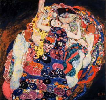 The Maiden, 1913 (oil on canvas) by Klimt, Gustav (1862-1918); 190x200 cm; Narodni Galerie, Prague, Czech Republic. Print available from Thestore.com.au/klimt