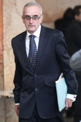 Paul O'Grady arrives at the ICAC hearing in 2013.