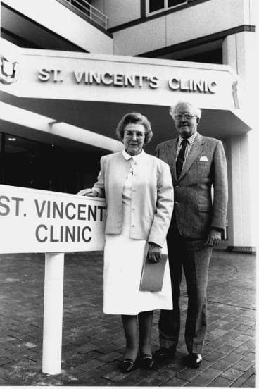 Doctors Representive sister Bernice and Dr John Roarty, 1990.