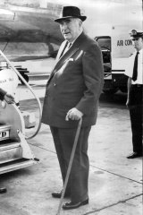Robert Menzies, whose Melbourne seat of Kooyong is now held by Frydenberg. The MP also has one of Menzies' walking sticks.