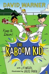 David Warner's latest book in a children's book series touted as having an anti-sledging and anti-bullying message.
