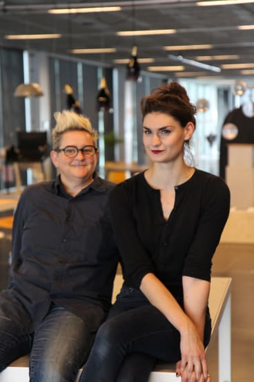 RMIT lecturer Dr Judith Glover (left) and student Victoria Cullen run the world's first university course in sex toy design.