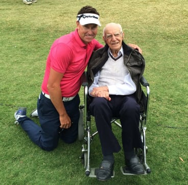 Robert Allenby with Tony Rafty in 2014.