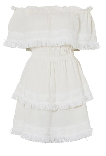 2. Steele Avery Dress in white.