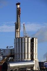 A Cuadrilla Resources drilling rig near Blackpool.