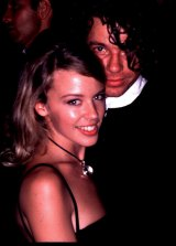 Kylie Minogue and Michael Hutchence when they were dating.