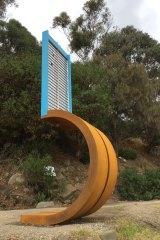 Winner of the Lorne Sculpture Biennale 2018 prize, Margaret Worth's four-metre high Vajrasana meditation.