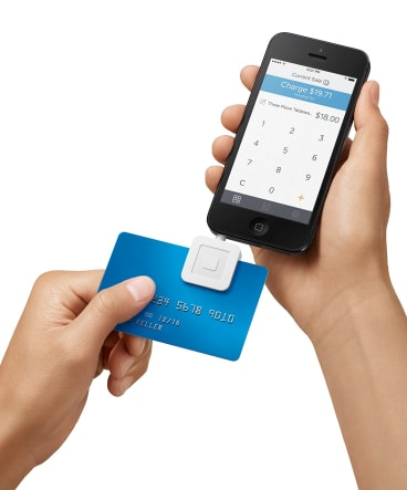 The Square card reader used by US retailers including part-owner Starbucks.