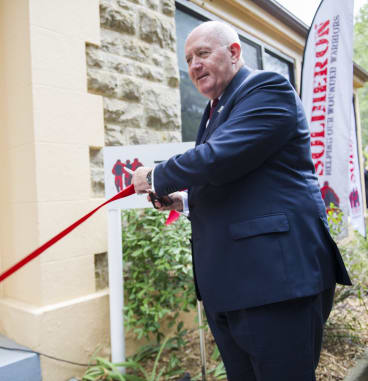 Governor-General Sir Peter Cosgrove officially opens the centre.