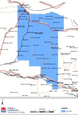 PEL 437 extends from Gwydir Highway north to the Queensland border.