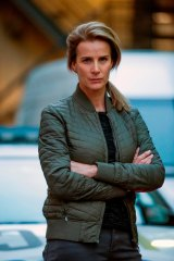 Rachel Griffiths' Detective Grace Gibbs is a complex character with a broken marriage and anger management issues.