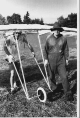 George Reekie teamed with his father, Colin, designing and building the glider for the Birdman Rally.