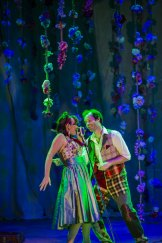 Bell Shakespeare's As You LIke It: Abi Tucker, left, and Gareth Davies.  The Canberra Times  Photo Jamila Toderas