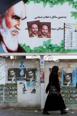 Campaign posters in 1998, when Iran held its first local elections for 20 years.