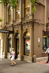 The exterior of 421 Bourke Street, home of Kozminsky jewellers for more than 40 years.