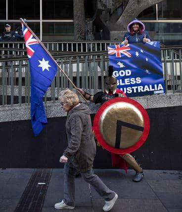 Reclaim Australia rally in Sydney.