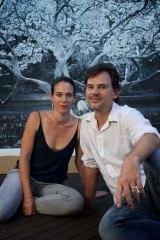 Joshua Yeldham with his wife Jo today.