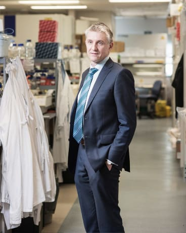 Professor Grant McArthur at the Peter MacCallum Cancer Centre in Melbourne.