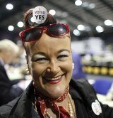 Tally counter Rhonda Donaghy at the RDS count centre in Dublin.