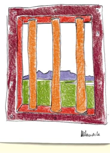 Artwork by former South African President Nelson Mandela.