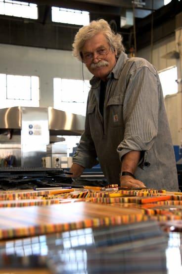 Klaus Moje at the Canberra Glassworks.