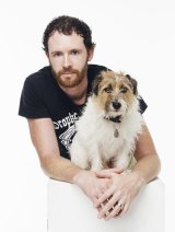 Man's pest friend: Bryan Cook with Rascal, his wiry-haired Jack Russell.