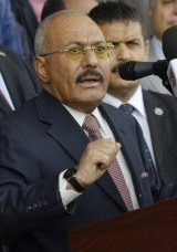 Former Yemeni President Ali Abdullah Saleh's party denied that their leader had been killed and said he was still leading forces in heavy fighting in Sanaa.