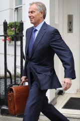 Former British prime minister Tony Blair in London on July 5, 2016.
