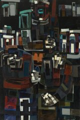 The influence of his early mentors saw Senbergs produce works in an abstract style, such as <i>The Whipper</i>, 1961.