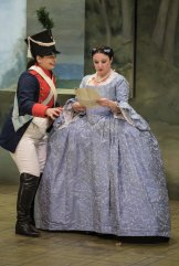 Agnes Sarkis, left, as Cherubino, and Emma Castelli as Countess in the comedy opera.