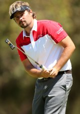 Victor Dubuisson battled jet lag early in his Perth visit but stormed home late.