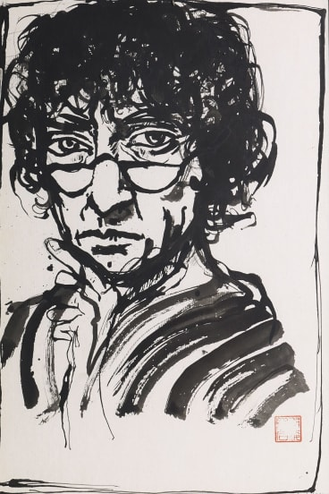 Brett Whiteley's Self portrait with Reading Specs (1991) will be on display at the Art Gallery of NSW.