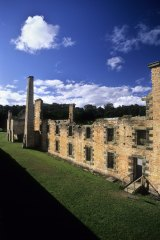 The penitentiary building ruins, Port Arthur, part of the area's history.