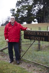 Ed Tyrie is leading the fight to keep Stanley water in Stanley.
