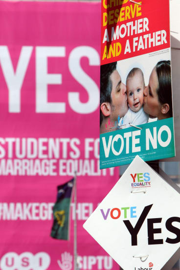 Eighteen countries have approved same-sex marriage laws, but not in popular votes.