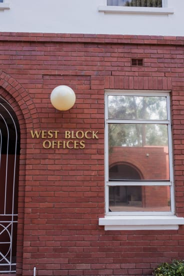 The West Block offices once housed a library.