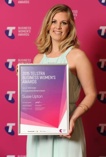 Susie Upton took home the young business woman's award for youth counselling service Child Aware.
