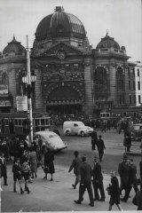 Flinders Street Station,  March 13, 1947.