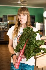 Felicity 'Flick' Jones from the Meeniyan Store grows vegies in the garden out the back.