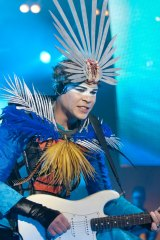 Luke Steele in his Empire of the Sun incarnation at Parklite Melbourne in 2009.