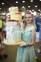 Hannah Iseley chose an outfit to match her cake.