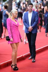 Craig Laundy's brother, Stu Laundy, in happier times with Sophie Monk.