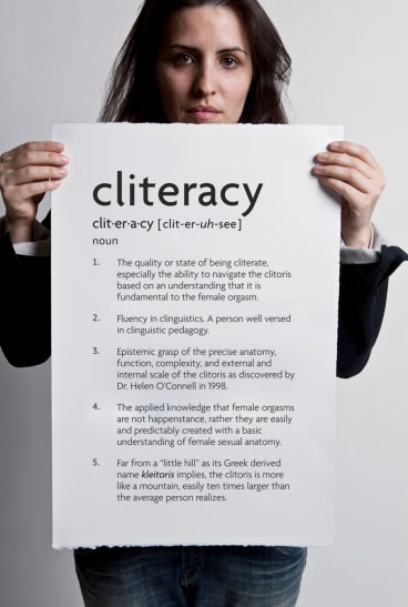 New York conceptual artist Sophia Wallace wants people to improve their 'Cliteracy'.