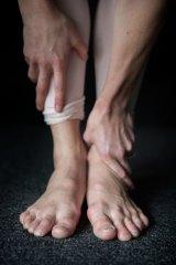 Lana Jones' feet show the strain of rehearsals for <i>The Sleeping Beauty</i>.