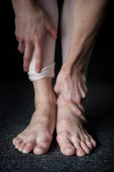 Lana Jones' feet show the strain of rehearsals for <i>The Sleeping Beauty</i>.