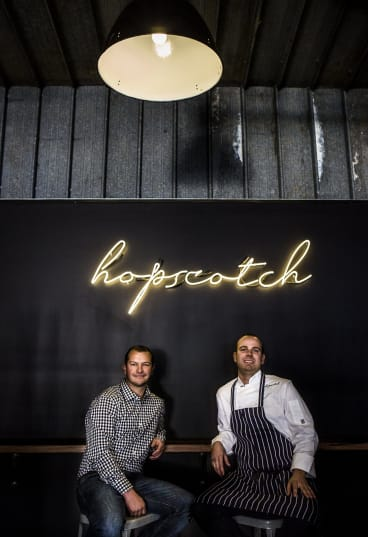 Hopscotch Bar owners Brian Smith, and Nick Parkinson.