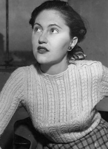 Coral Lansbury, writer and mother of Malcolm Turnbull, in June 1949.