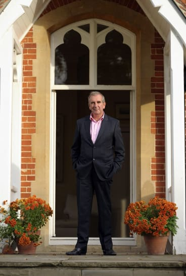 Robert Harris, author of Dictator, at his home in Berkshire, England.