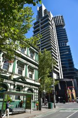 The Celtic Club is opposite one of the city's first high-profile apartment towers, Republic.