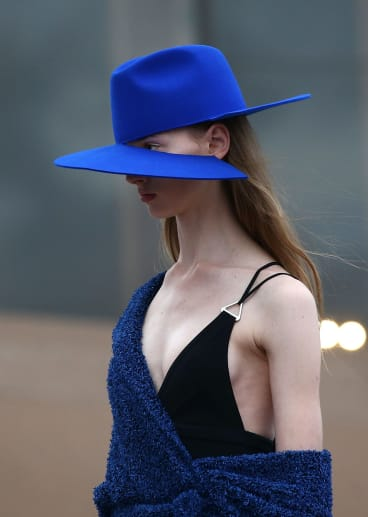 Akubra for Dion Lee was on show at Fashion Week in Sydney on Sunday.
